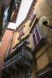 Old House in Labin in Croatia. Old House in Narrow Street in Labin in Croatia Royalty Free Stock Image