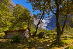 Old house near Briksdal glacier - Norway Stock Photos