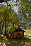 Old house near Briksdal glacier - Norway Royalty Free Stock Images