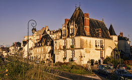 Old house near the Chateau d`Amboise. Stock Photos