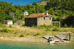Old house near the water. Stock Photography