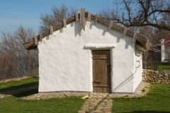 Old house nebolno - Russian hut, house-museum exhibit in memory of the great Russian poet of stay M Royalty Free Stock Photo
