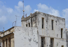 An old house. In need of paint, Tangier Morocco royalty free stock photo