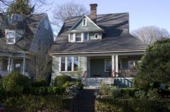 Old house neighborhood Stock Images