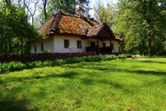 Old house nineteenth century. Lateral and front part of the house in which he lived Shevchenko Stock Photography