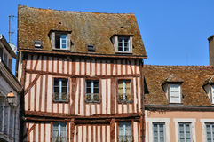 Old house in Nogent le Roi in Eure et Loir Royalty Free Stock Photos