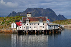 Old house in Norway landscape Royalty Free Stock Images