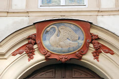 Old house numbers, Prague. Before numbering the house in Prague people used images instead of numbers Royalty Free Stock Photo