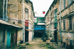 Old house in old city, Poverty in the cities of eastern Europe Royalty Free Stock Photos