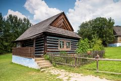 Old house in open-air museum in Stara Lubovna. Stara Lubovna, Slovakia. 10 AUGUST 2015. Open-air museum in Stara Lubovna. Ethnographic natural exposition Stock Photos