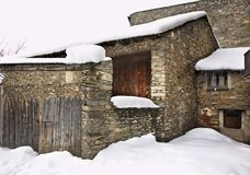 Old house in Ordino. Andorra.  Royalty Free Stock Photography
