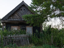 Old house. Overgrown in the grass Stock Photography