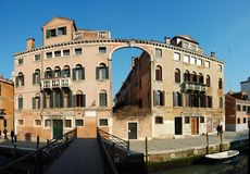Old House - panorama ,Venice,Italy Royalty Free Stock Images