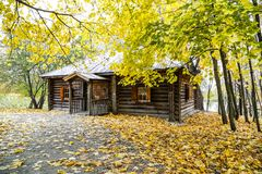 Old house in the Park. Old house in autumn Park stock image
