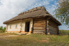 Old house of peasants in the museum. Ukraine Royalty Free Stock Image