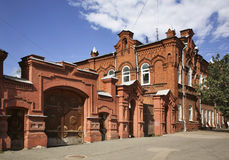 Old house on the Perm street in Perm. Russia Stock Photography