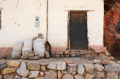 Old House in the Peruvian Andes Stock Images