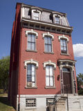 Old house in Pittsburgh. Exterior of tall old house in Pittsburgh, Pennsylvania, U.S.A Stock Photos