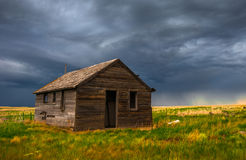 Old House on the Plains Royalty Free Stock Images