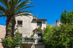 Old house in Pont-Saint-Esprit Stock Images