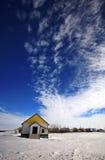 Old House Prairie. Blue sky abandoned Stock Photo