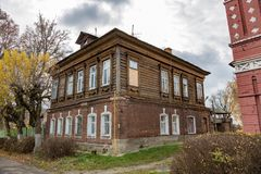 Old house in a provincial ghost town Stock Image