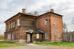 Old house in a provincial ghost town Stock Photo