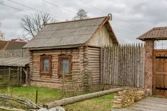 Old house in a provincial ghost town Royalty Free Stock Photos