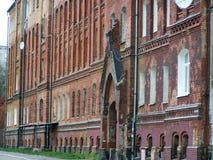 Old house of red brick. Kaliningrad city. The photo.  royalty free stock photo