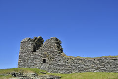 Old house. Remains of a 16th century house known as the laird's house, Jarlshof, Dunrossness, Shetland, Scotland Royalty Free Stock Images