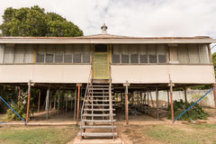 Old house renovation. Old Queenslander style high set house being renovated Royalty Free Stock Images