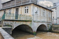 Old house on river Stock Image