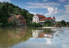 An old house on the river Royalty Free Stock Photos