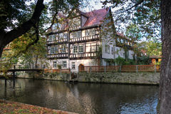 Old house on the river, Erfurt, Germany Stock Photography