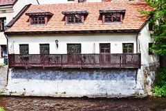 Old house on the river in Vilnius Royalty Free Stock Photo