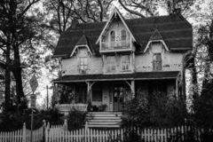 An old house in Roland Park, Baltimore, Maryland.  royalty free stock photo