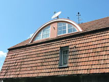 Old house roof, Lithuania Stock Photo