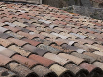 Old house roof tiles Royalty Free Stock Photos
