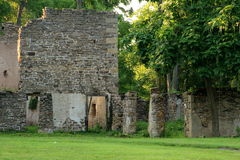 The old house,. The old house is in ruins and has been sitting vacant for many years. There must be some interesting stories from within these walls Royalty Free Stock Photo