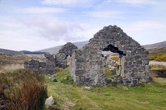 Old house, ruins at mountains valley Royalty Free Stock Image