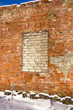 Old house ruins wall background Stock Photo