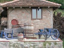 Old house with rural objects Royalty Free Stock Photo