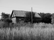 Old house in russian village royalty free stock photography