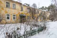 Old house in the Russian winter Stock Image