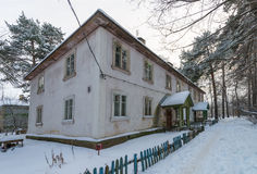 Old house in the Russian winter Royalty Free Stock Photography
