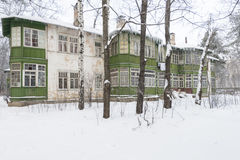 Old house in the Russian winter Royalty Free Stock Images