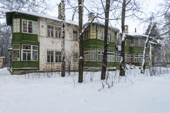 Old house in the Russian winter Royalty Free Stock Image