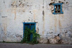 Old house 'for sale' in Crete, Greece. Royalty Free Stock Images