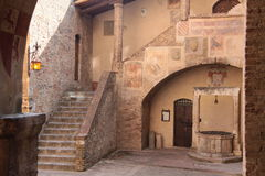 Old House in San Gimignano Stock Photography