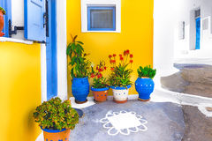 Old house in Santorini Royalty Free Stock Images